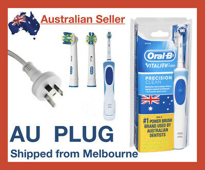 AU47.49 • Buy Oral-B Vitality Plus Braun Power Electric Rechargeable Toothbrush + 2 Refills
