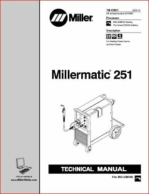 $45 • Buy Millermatic 251 Technical Manual Eff With Lb170597