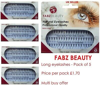 £1.89 • Buy 60 Stand Individual Flare Cluster Eyelashes Knotted False Lash Natural Looking