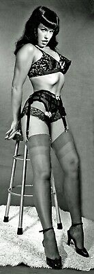 £12.95 • Buy BETTIE PAGE 1950s PIN UP VINTAGE LINGERIE POSE BURLESQUE LIFE SIZE CANVAS 6FT