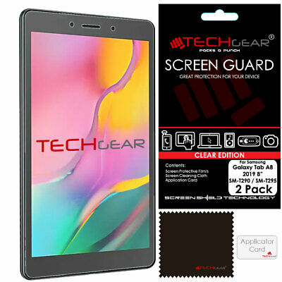 £2.95 • Buy 2 Pack TECHGEAR Screen Protectors For Samsung Galaxy Tab A 8.0  2019 T290 /T295