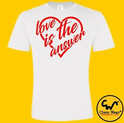£12.99 • Buy LOVE IS THE ANSWER Tee Unisex Bottom Tshirt Rik Mayall Young Ones British Comedy