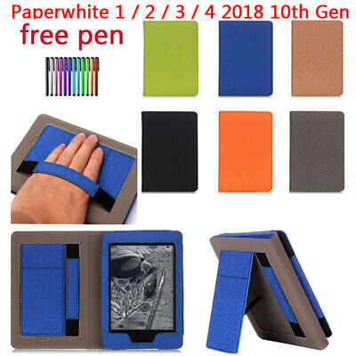 AU12.85 • Buy For Amazon Kindle Paperwhite 1 2 3 4 10th Hand Strap Flip Smart Case Cover Stand
