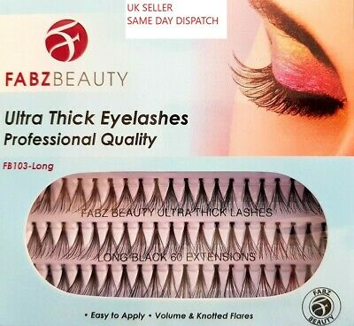 £2.79 • Buy Individual Eyelashes Knotted Flare Cluster Ultra Thick Lashes Fabz Beauty