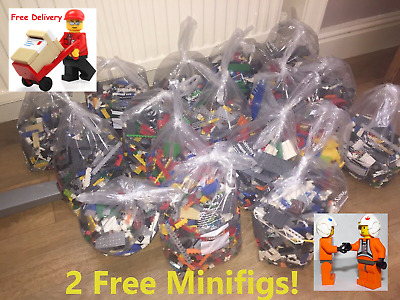 $26.09 • Buy 1 Kg Lego Kilo Bricks Parts Accessories Bundle & 2 Figures 2000+ Bags Sold