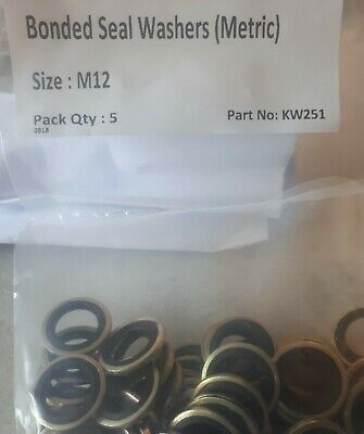 £3.70 • Buy M12 12mm Ford Sump Plug Washers -  12MM BONDED OIL SEAL /  DOWTY WASHERS