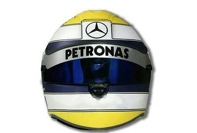 Petronas F1 Fan Lewis Crash Helmet Visor Sticker 2 Options Available WhiteSilver • 17.99£