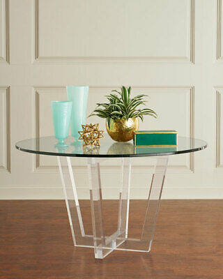 $2939 • Buy  Glamorous Interlude Home Lovey Acrylic Round Dining Table Horchow Neiman Marcus