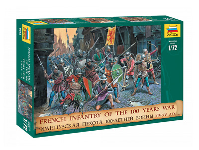 Zvezda French Inf. 100 Years War Scale: 1:72 - 8053 Military Model Kit • 11.74£