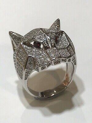 £49 • Buy 925 Sterling Silver Mens Solid Pinky Rİng WOLF DESIGN ALL SIZES