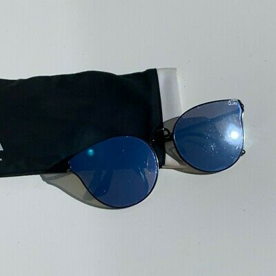AU44 • Buy Quay Womens Sunglasses - Blue Reflective - Good Condition - With Bag