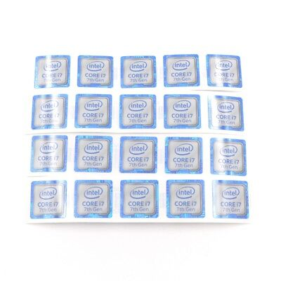 $ CDN7.58 • Buy 20pcs  CORE I7 7th Gen Label Badge Sticker Decal For Laptop PC 18*18mm New ST050