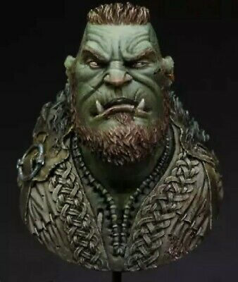 1/12 Resin Figure Model Kit Bust ORC Warrior Warcraft Unpainted • 19.99£