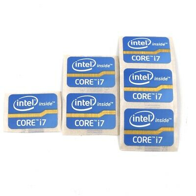 $ CDN6.31 • Buy 20x  Core I7 Inside Computer Laptop Sticker Badge Label Decal 24.5 X 18mm ST021