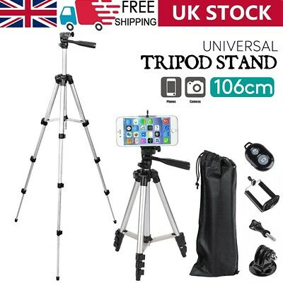 £8.89 • Buy Universal Telescopic Camera Tripod Stand Phone Holder For IPhone Samsung Sony