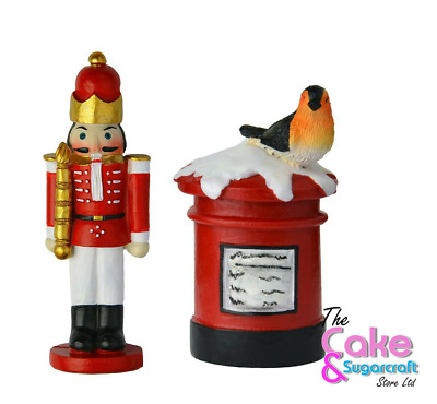 Post Box Nutcracker Cake Topper Decoration Xmas Christmas British Cute Free Post • 5.99£