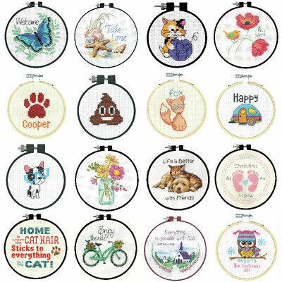 Dimensions Counted Cross Stitch Kit With Hoop Beginners Learn A Craft • 10.75£