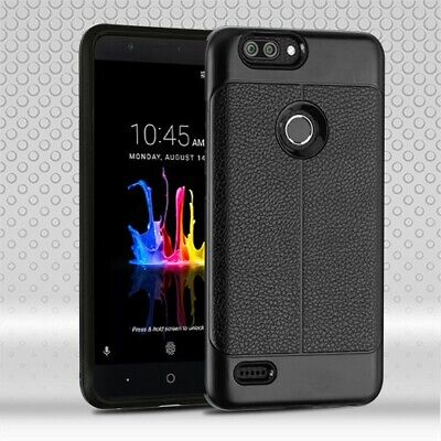 $5.84 • Buy For ZTE Blade Z Max Z982 Black Leather Texture/Blackrid Case Cover