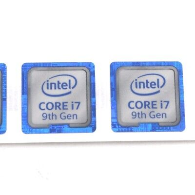 $ CDN227.78 • Buy 1000X  CORE I7 9th Gen 18*18mm Stiker Badge Decal For PC Laptop Blue ST087