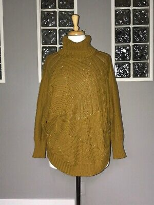 $ CDN64.50 • Buy Angel Of The North Harvest Moon Poncho Sweater Anthropologie Dolman Cable Knit