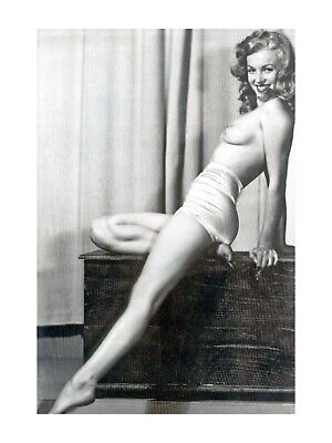 £14.95 • Buy MARILYN MONROE  50s SEXY PIN UP NUDE EROTIC RISQUE POSE CANVAS POSTER NO FRAME