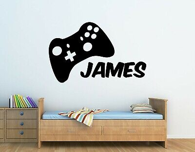 Personalised Xbox Controller Gamer Wall Art Sticker, Childrens Bedroom • 5£