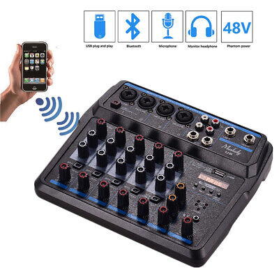 $49.89 • Buy Mini Live Karaoke Audio Mixer Microphone Digital Sound Mixing Console 4 Channel