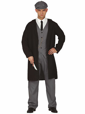 Mens 1920s Shelby Gangster Costume Suit Peaky Flat Cap Adult Fancy Dress Outfit • 22.95£