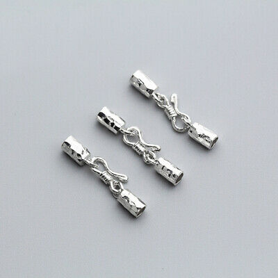 925 Silver End Cap Sets Lobster Clasp 3mm For Leather Cord/Bracelet Necklace • 3.99£
