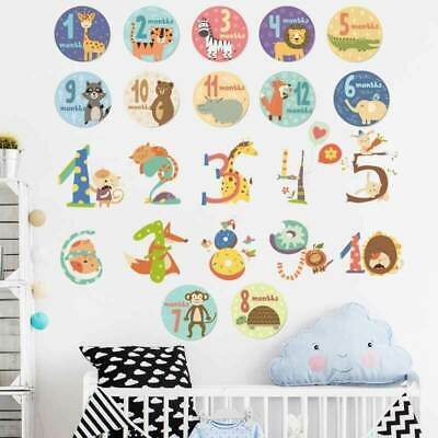 Animal Numbers Kid Removable Wall Sticker Decal Baby Cot Nursery Decor Art Mural • 10.22£