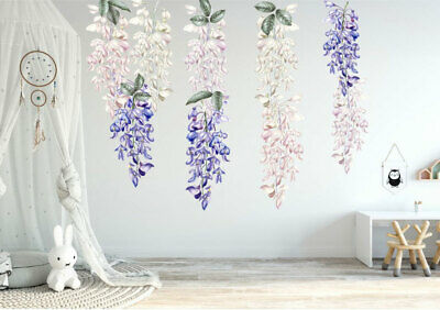 Large Wisteria Flower Decal Wall Stickers Kids Baby Cot Girls Nursery Decor Art • 40£