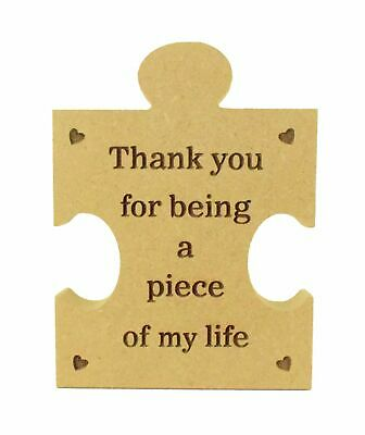 £4.99 • Buy Engraved Thank You For Being A Piece Of My Life Mum Dad Brother Best Friend Nan