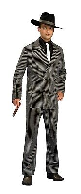Mens Fancy Dress Gangster Suit Costume 20s 1920s Pinstripe Outfit - 2 Sizes • 14.50£