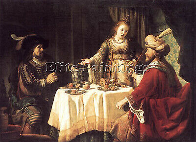 $ CDN846.43 • Buy Jan Victors The Banquet Of Esther And Ahasuerus Artist Painting Reproduction Oil