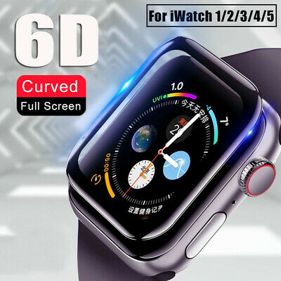 $ CDN2.98 • Buy For Apple Watch Series 5 4 3 2 6D Tempered Glass Screen Protector 38/40/42/44 Mm
