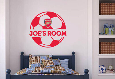 £19.99 • Buy Arsenal FC Wall Sticker Personalised Name & Ball Design Wall Decal