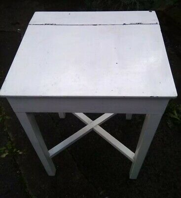 Vintage Wooden Painted Children's School Desk. Upcycle Project. • 25.50£