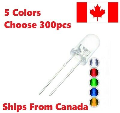 $ CDN3.49 • Buy 300 Pcs 5 Colors 5mm Round Water Clear LED Diodes Light Kit. You Choose Pack DIY