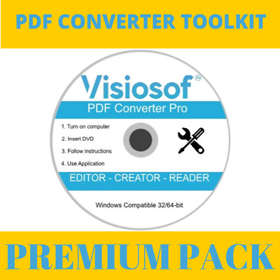 2020 Pro PDF Converter Viewer Editor Convert PDF To Word Edit Text Images PC CD • 3.98£