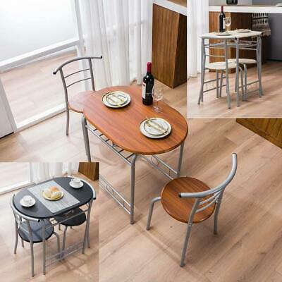 $65.59 • Buy 3 PCS Bistro Dining Set Table And 2 Chairs Kitchen Furniture Home 3 Colors New