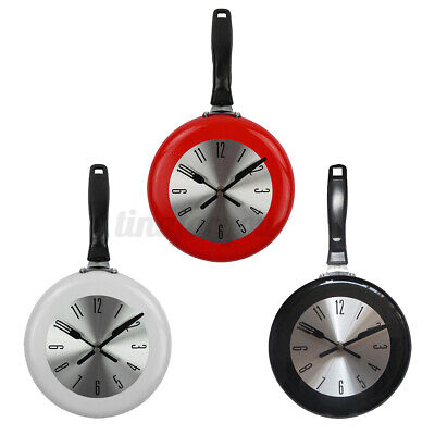 8'' Home Decor Kitchen Wall Clock Frying Pan Small Novelty Design • 13.99£