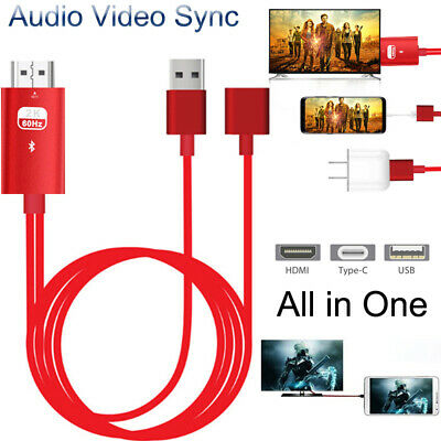 $ CDN13.80 • Buy Bluetooth USB Audio Video HDMI Adapter Cable For IPhone IOS Android Phone TO TV