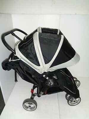 Baby Jogger City Mini Double Blk/Grey Pushchair Double Seat Stroller RPP £449.99 • 260£