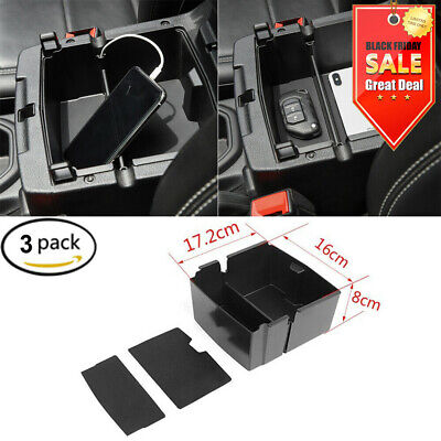 $9.99 • Buy 3X For Jeep Wrangler JL JT 2018-2020 Armrest Box Storage Box With Mat Store