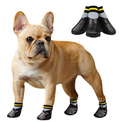 4pcs Waterproof Dog Shoes Pet Socks Anti Slip Snow Boots Booties Paw Protection • 5.99£