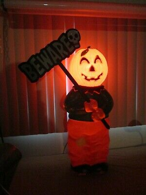 $59.99 • Buy Vintage Don Featerstone Pumpkin Head Scarecrow Lighted Halloween Blow Mold 31