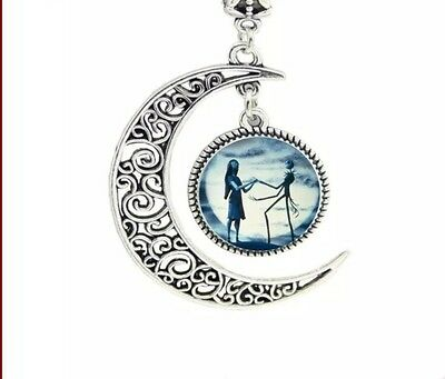 Blue Moon Crescent 925 Sterling Silver Pendant With 22-24  Chain Necklace Love • 2.09£