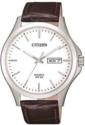 AU99 • Buy Citizen Brown Leather Strap Mens Dress Watch BF2001-12A
