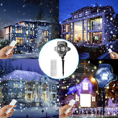 $15.65 • Buy Snowfall LED Light Snowflake Projector Lamp Christmas Indoor Outdoor Decor LK