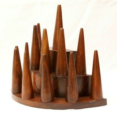 Ring Display Cones Wooden Jewellery Storage Stall Shop Retail Stand Gift • 16.95£